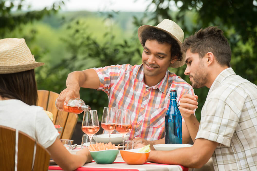 image showing kids who probably have a trust fund enjoying some wine